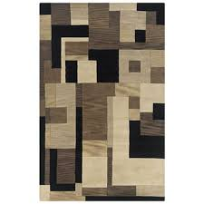 Modern Black Rug Rizzy Craft Cf 0786 Taupe Black Modern Area Rug Ruggoddess