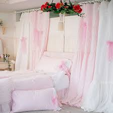 Curtains Wedding Decoration Aliexpress Com Buy Quality Pink White Princess Lace Curtain For