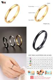 aliexpress buy vnox 2016 new wedding rings for women 10978 best rings images on for women fingers and