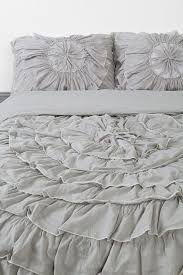 Ruffle Bedding Set Simple Style Bedroom With Grey Ruffle Bedding Set Plum Bow Ruffle