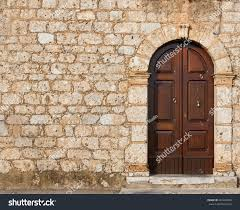 stone wall door wall old house stock photo 282402908 shutterstock
