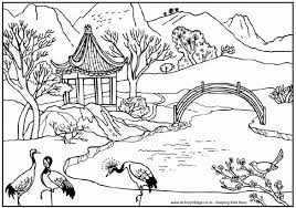 landscapes in scenery coloring pages glum me