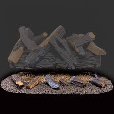 procom vented natural gas fireplace log set 24 in 55 000 btu