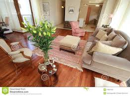 classy living room with flowers stock photography image 31687352