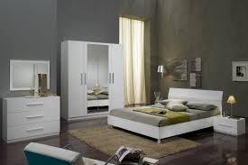 glorino chambre à coucher complète blanc laqué modiva