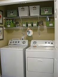 Utility Room Organization Use An Empty Wall In A Small Laundry Room To Dry Clothes