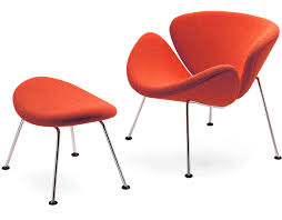 orange slice chair u0026 ottoman hivemodern com