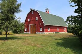 iconic red barn great plains gambrel style party barn sand