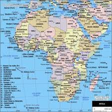 africa map atlas map of africa holidaymapq