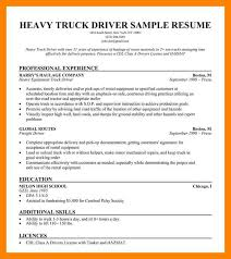 resume for truck driver resume truck driver sample beautiful