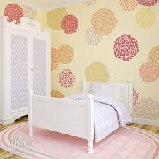 painting stencils for wall art bloomers wall stencil set floral wall art floral wall and baby