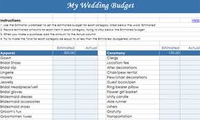 Wedding Budget Spreadsheet Excel Estimate Actual Difference Funding Useful Wedding Budget Template