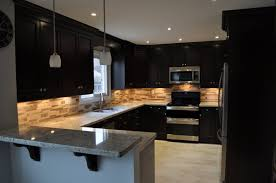 Black Kitchen Backsplash Kitchen Attractive Black Kitchen Cabinet Design Ideas With Grey