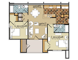 2 bedroom apartment floor plans garage