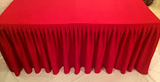 8 ft table skirt amazon com 8 ft fitted tablecloth double pleated polyester table