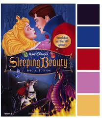 poster palette sleeping beauty fairy tale