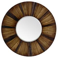 Wood Mirror Frame Eternal Wood Framed Round 36