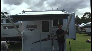 Awnings For Rv Slide Outs Slide On Camper Rear Awning Operation Lance 855s Model Youtube