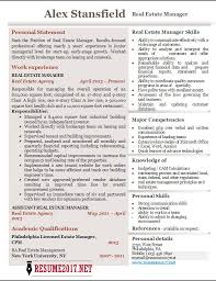 Real Estate Resume Sample by Real Estate Manager Resume 2017 Examples U2022