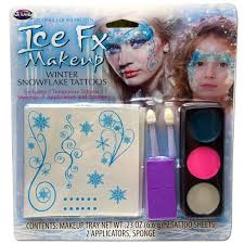 Halloween Eye Makeup Kits by Ice Fx Makeup Winter Snowflake Temporary Tattoos Halloween Kit