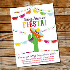 mexican baby shower invitation for a or boy mexican