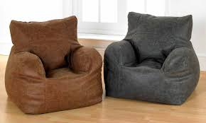 luxury distressed faux leather bean bag chairs brown or grey u2013 uk