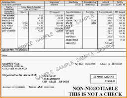 8 fake pay stub template loan application form