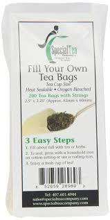 amazon tea amazon com special tea company empty tea bags with strings 2 5