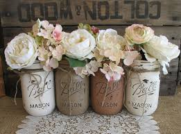 wondrous mason jars decorated 58 mason jar centerpieces for baby