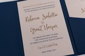 calligraphy invitations calligraphy wedding invitation in navy blue pocketfold bossa