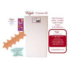 Colgate Classica Iii Foam Crib Mattress Colgate Classica Iii Dual Firmness Foam Crib Mattress Walmart