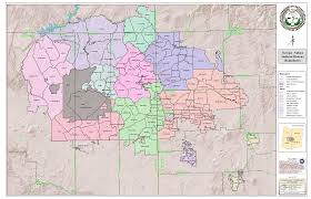 Mesa Arizona Map by Map Of Navajo Nation Judicial Districts