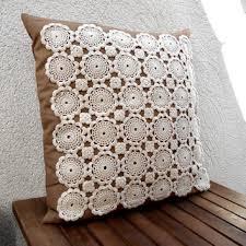 shop crochet throw pillow on wanelo