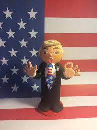 Indian Flag Cake The Donald Trump Wood Cake Topper Peg Figurine