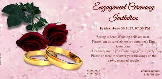 free engagement invitation card invitations