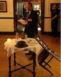 Fallen Comrade Table by Rmr Association Br 14 Celebrates 80 Years With The Legion The