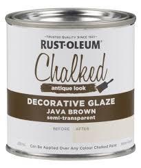 chalked decorative glaze