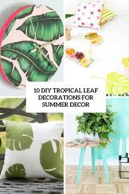 10 diy tropical leaf decorations for summer décor u2013 home info