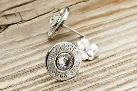 bullet stud earrings 30 06 dainty nickel bullet stud earrings bulletdesigns