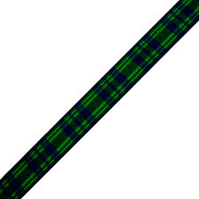 plaid ribbon green navy woven plaid ribbon 5 8 x 15 yards