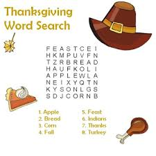 thanksgiving word search coloring pages