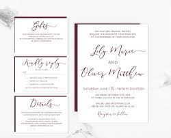 vista print wedding invitation marsala loose calligraphy diy editable wedding invitation template