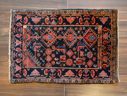 Faded Persian Rug by Antique Persian Accent Rug Size 2x3 Ft Navy U0026 Coral