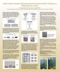 Qtl Mapping Study 3 U2013 Malaysian Rice Project