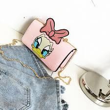 shop 2017 fashion women bag donald duck daisy duck shoulder