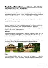 11 free esl types of houses worksheets
