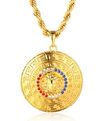 medallion pendant necklace images Halukakah quot big daddy quot men 39 s 18k real gold plated medusa medallion jpg
