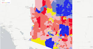 Phoenix Arizona Map by Map Making Arizona Blue Means Turning A Sea Of Red
