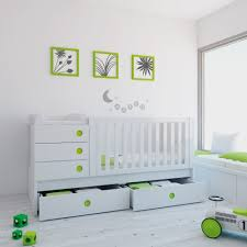 White Convertible Crib With Drawer by Alondra