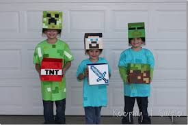 minecraft costumes diy minecraft creeper steve and costume keeping it